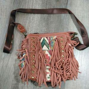 Montana West leather tassle crossbody bag